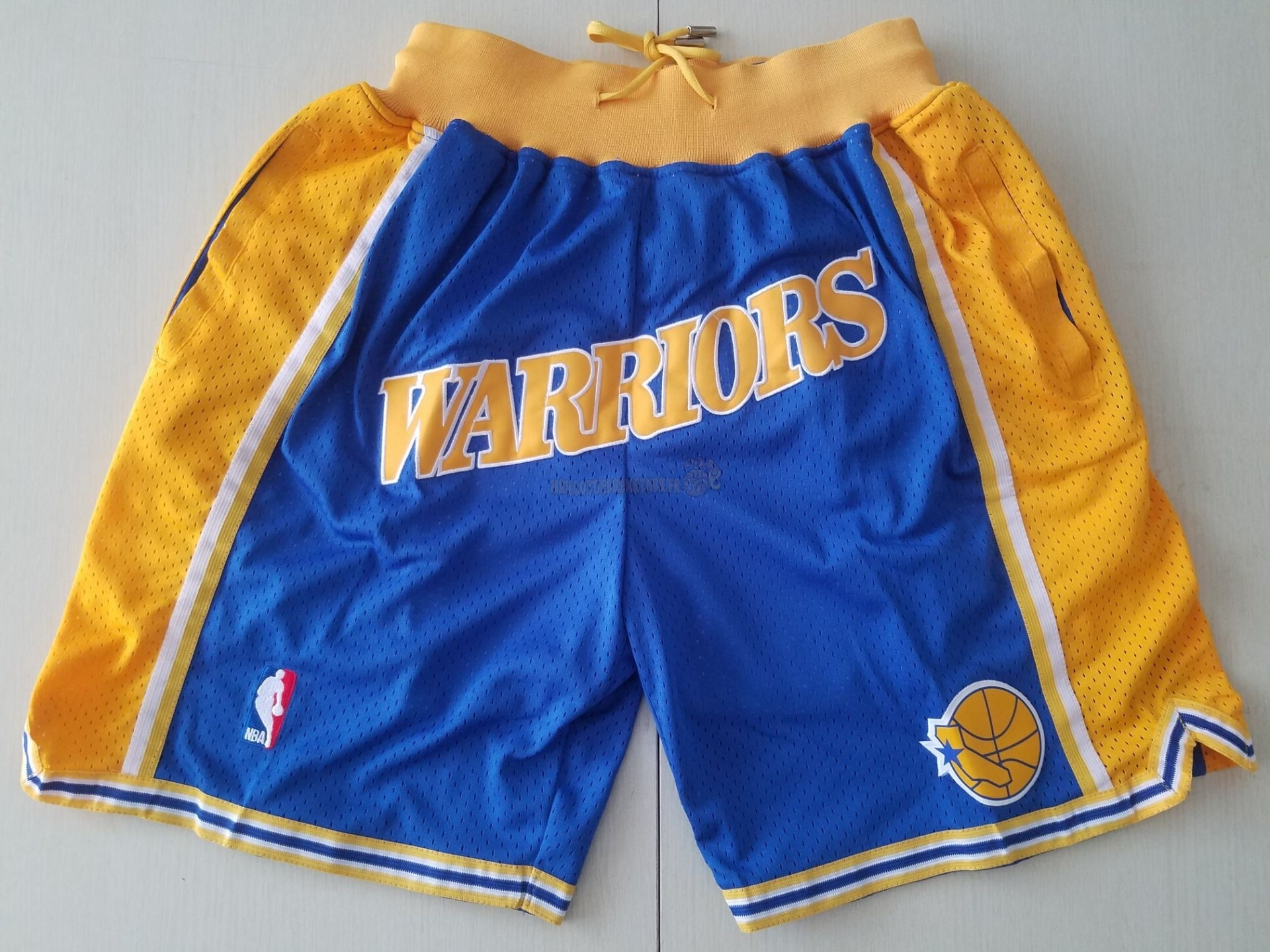 Vente Nouveau Short Basket Golden State Warriors Curry Bleu