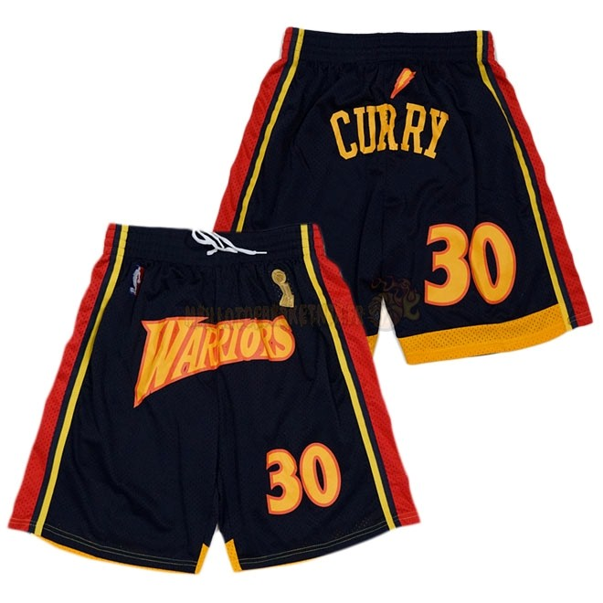 Vente Nouveau Short Basket Golden State Warriors Curry Noir