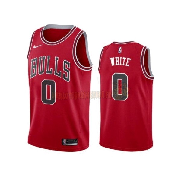 Vente Nouveau Maillot NBA Nike Chicago Bulls NO.0 Coby White Rouge Icon 2019-20