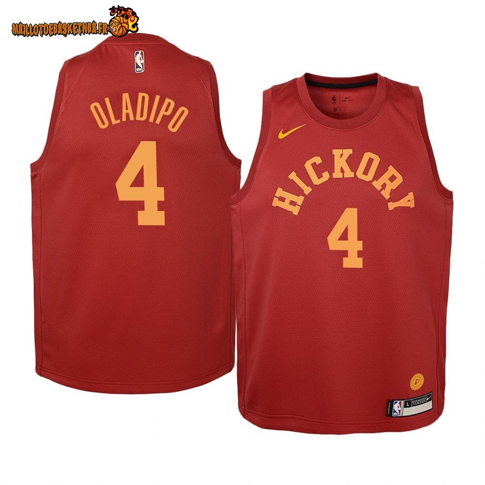 Vente Maillot NBA Enfant Indiana Pacers NO.4 Victor Oladipo Nike Retro Bordeaux Pas Cher