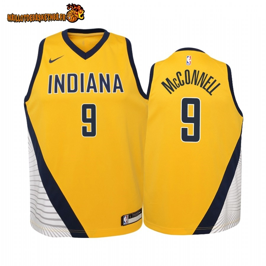 Vente Maillot NBA Enfant Indiana Pacers NO.8 Justin Holiday Jaune Statement 2019-20 Pas Cher
