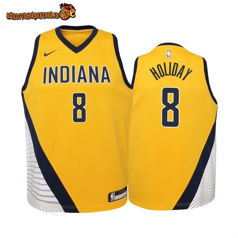 Vente Maillot NBA Enfant Indiana Pacers NO.9 T.J. McConnell Nike Retro Blanc Pas Cher