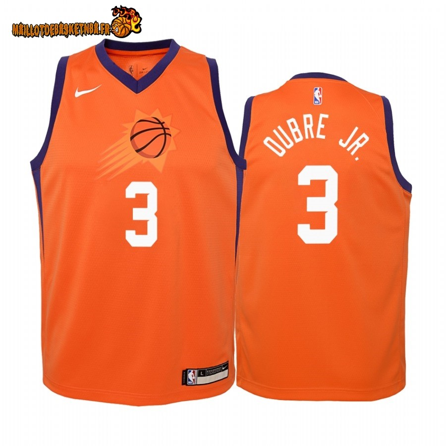 Vente Maillot NBA Enfant Phoenix Suns NO.3 Kelly Oubre Jr. Orange Statement 2019-20 Pas Cher