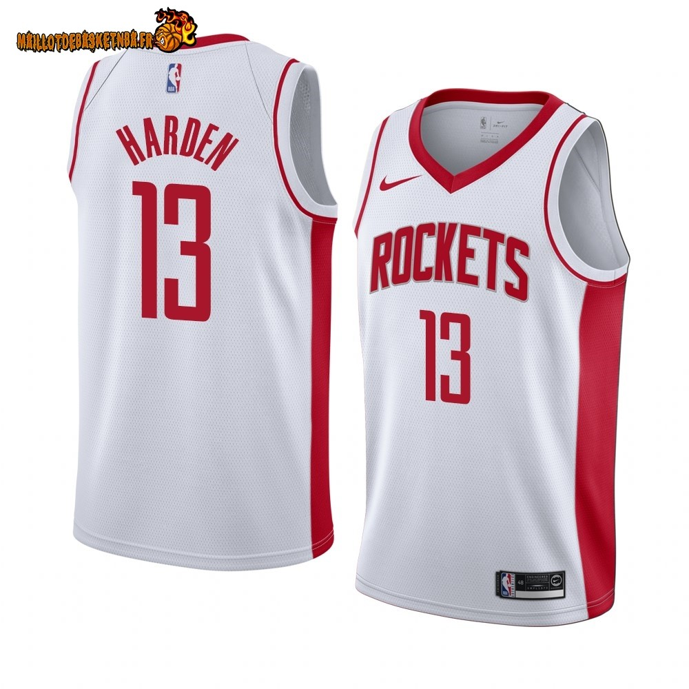 Vente Maillot NBA Nike Houston Rockets NO.13 James Harden Blanc Association 2019-20 Pas Cher