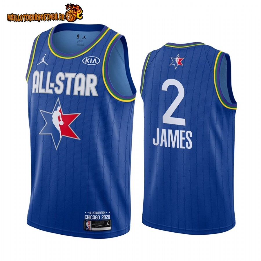 Maillot NBA 2020 All Star NO.2 Lebron James Bleu