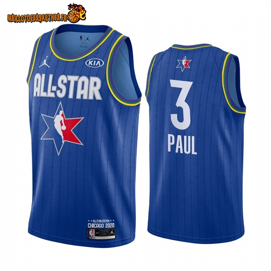 Maillot NBA 2020 All Star NO.3 Chris Paul Bleu
