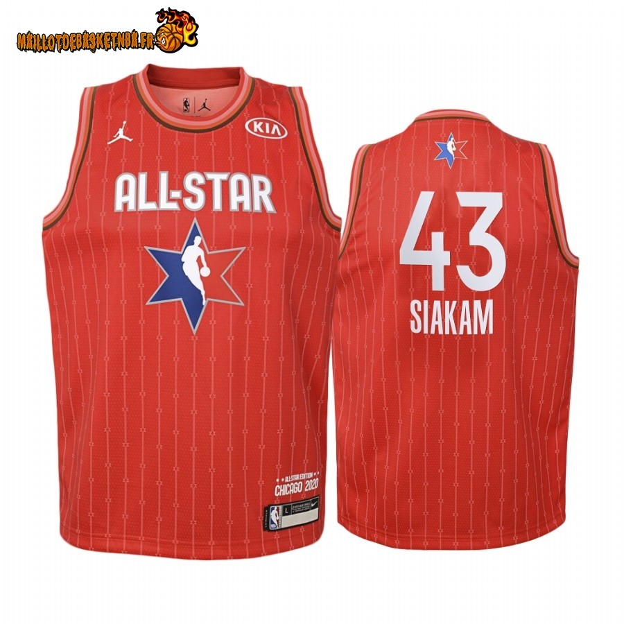 Maillot NBA Enfant 2020 All Star NO.43 Pascal Siakam Rouge