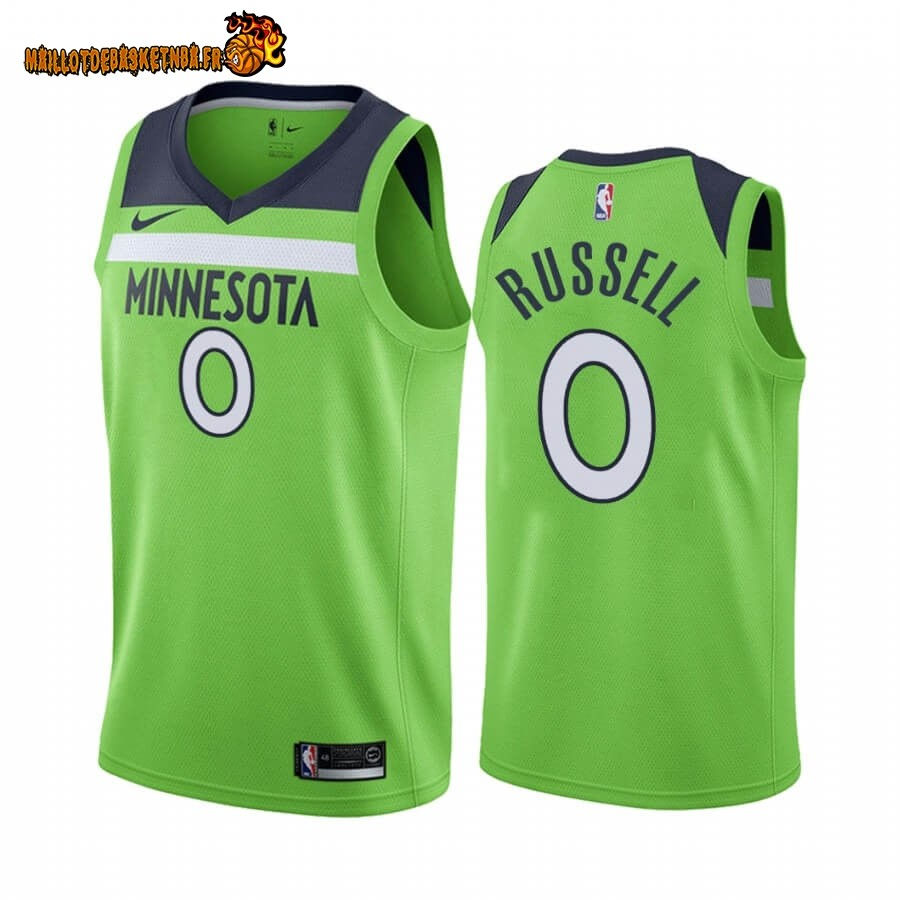 Maillot NBA Nike Minnesota Timberwolves NO.0 D'angelo Russell Vert Statement 2019-20