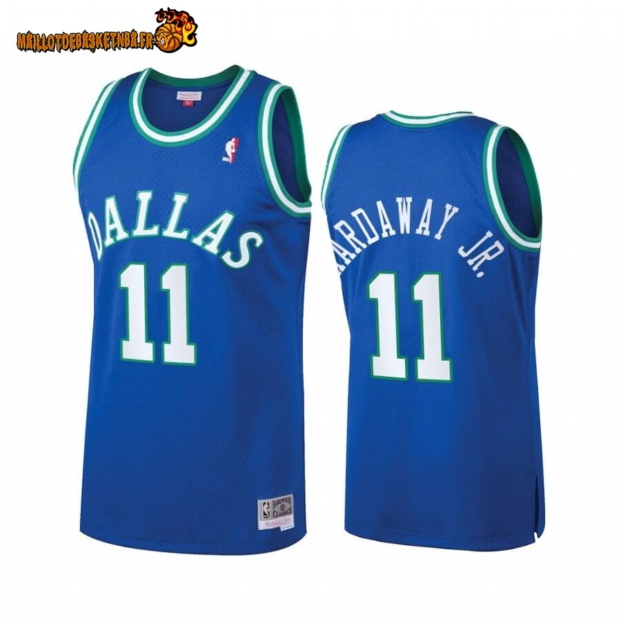 Maillot NBA Dallas Mavericks Heritage NO.11# Tim Hardaway JR. Bleu Hardwood Classics