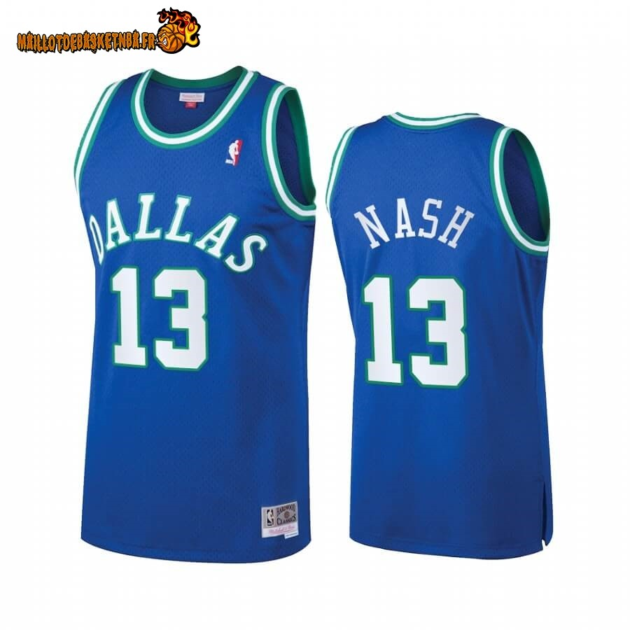 Maillot NBA Dallas Mavericks Heritage NO.13# Steve Nash Bleu Hardwood Classics