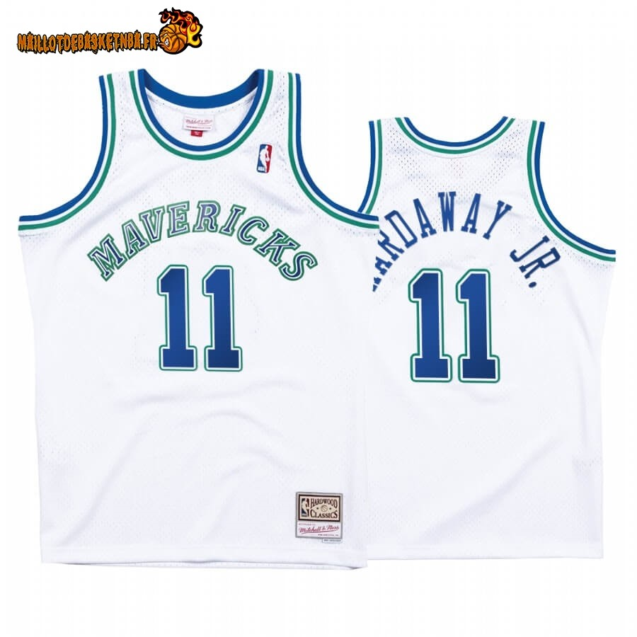 Maillot NBA Dallas Mavericks NO.11# Tim Hardaway JR. Blanc Hardwood Classics