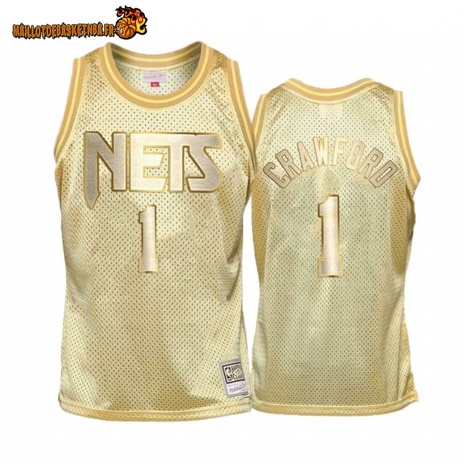 Maillot NBA Enfant San Antonio Spurs Midas NO.9# Jamal Crawford Or Hardwood Classics