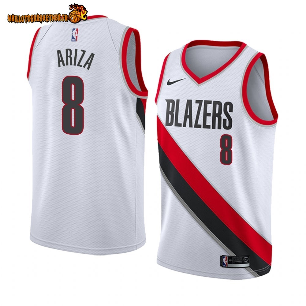 Maillot NBA Nike Portland Trail Blazers NO.8# Trevor Ariza Blanc Association 2019-20