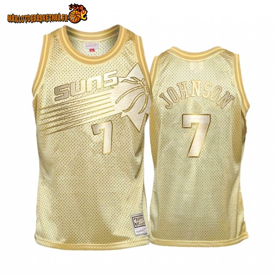 Maillot NBA Phoenix Suns Limited NO.7# Kevin Johnson Or Hardwood Classics