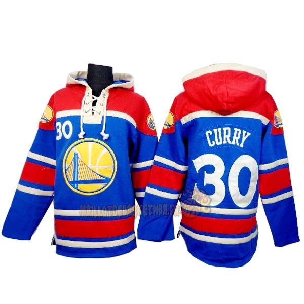 Vente Nouveau Hoodies NBA Golden State Warriors NO.30 Curry Bleu Rouge pas cher