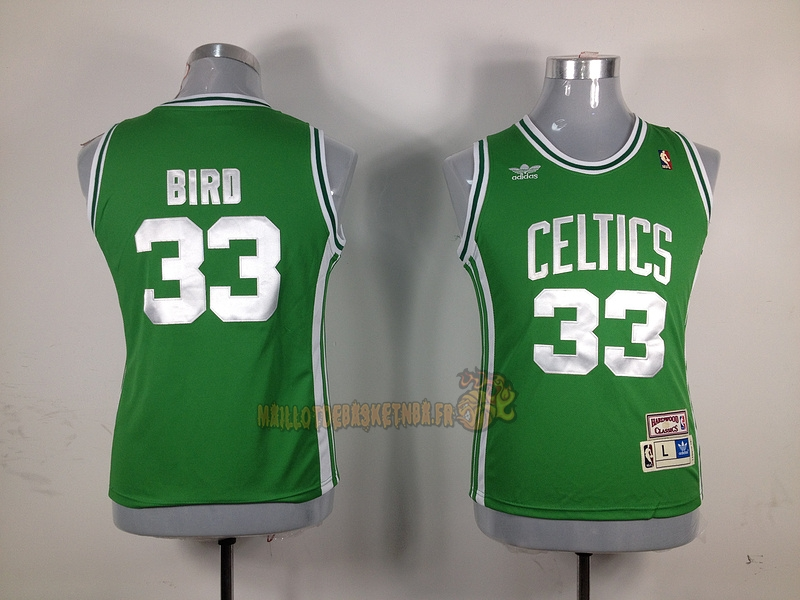 Vente Nouveau Maillot NBA Femme Boston Celtics NO.33 Larry Joe Bird Vert pas cher