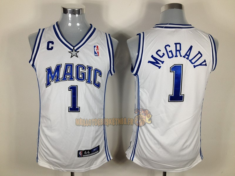Vente Nouveau Maillot NBA Femme Orlando Magic NO.1 Tracy McGrady Blanc pas cher