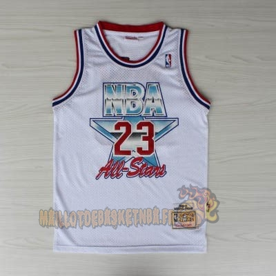 Vente Nouveau Maillot NBA 1992 All Star NO.23 Michael Jordan Blanc pas cher