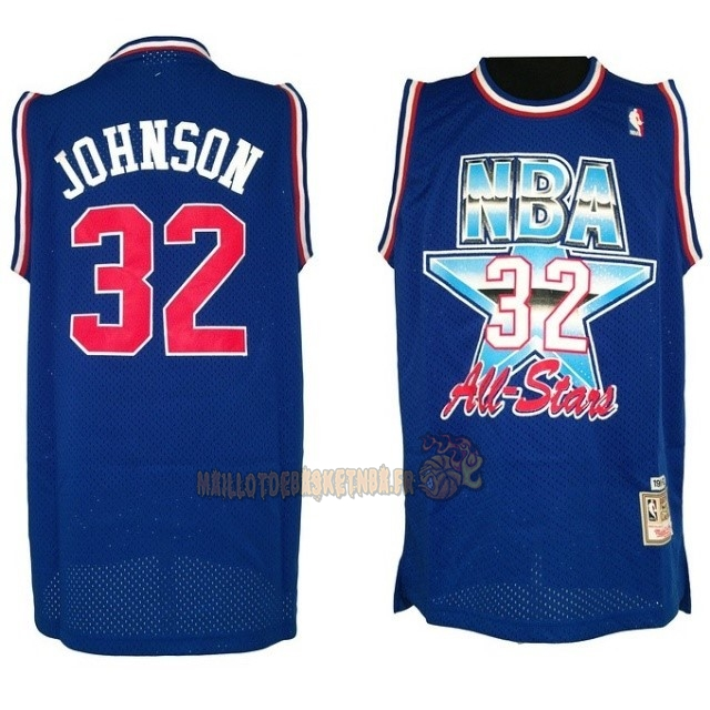 Vente Nouveau Maillot NBA 1992 All Star NO.32 Joe Johnson Bleu pas cher