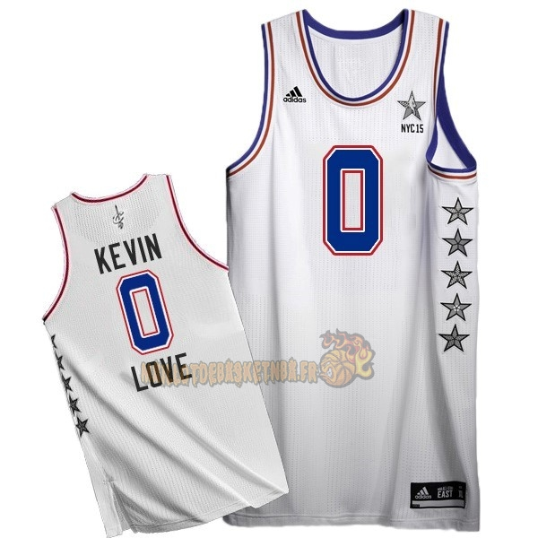 Vente Nouveau Maillot NBA 2015 All Star NO.0 Kevin Love Blanc pas cher