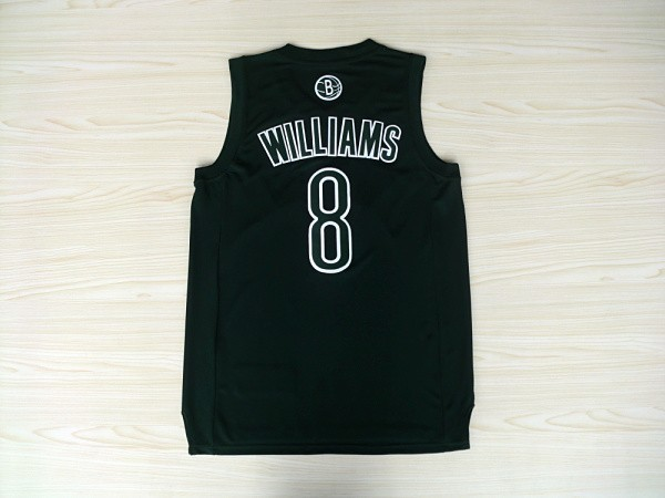Vente Nouveau Maillot NBA Brooklyn Nets 2012 Noël NO.8 Williams Noir pas cher