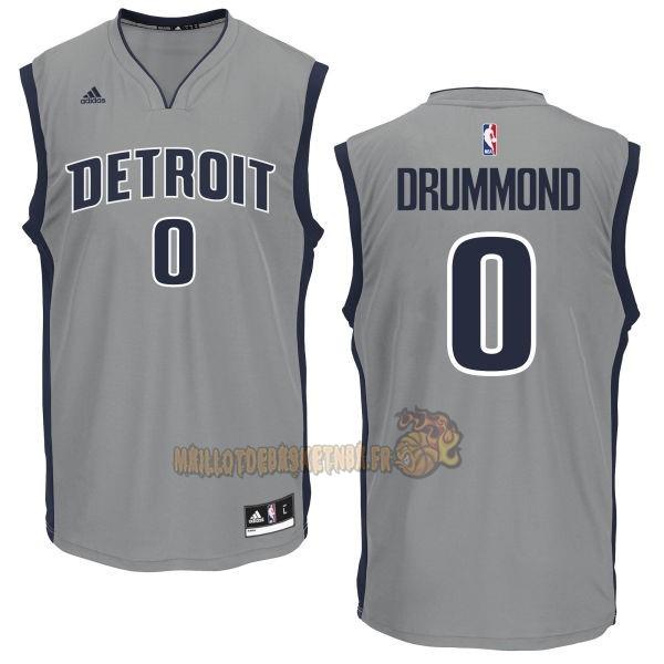 7add216aabeb0 Vente Nouveau Maillot NBA Detroit Pistons NO.0 Andre Drummond Gris pas cher