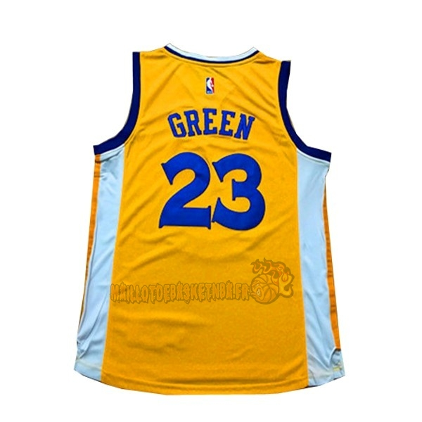 Vente Nouveau Maillot NBA Femme Golden State Warriors NO.23 Draymond Green Jaune pas cher