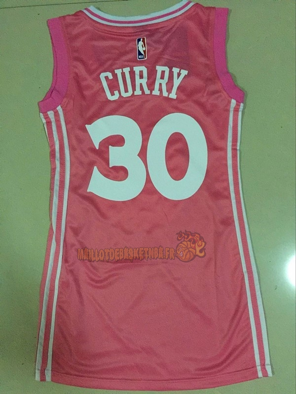 Vente Nouveau Maillot NBA Femme Golden State Warriors NO.30 Stephen Curry Rose pas cher