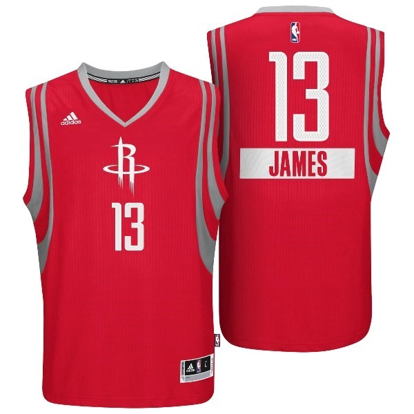 Vente Nouveau Maillot NBA Golden State 2014 Noël NO.13 James Rouge pas cher
