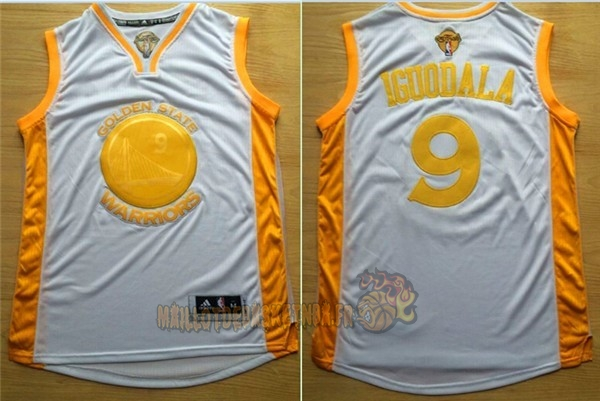 Vente Nouveau Maillot NBA Golden State Warriors NO.9 Andre Iguodala Or pas cher