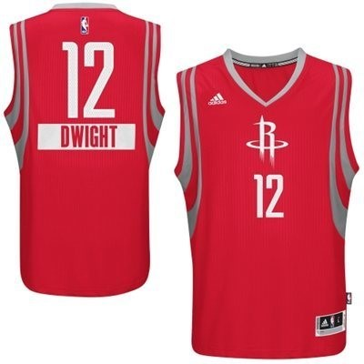 Vente Nouveau Maillot NBA Houston Rockets 2014 Noël NO.12 Dwight Rouge pas cher