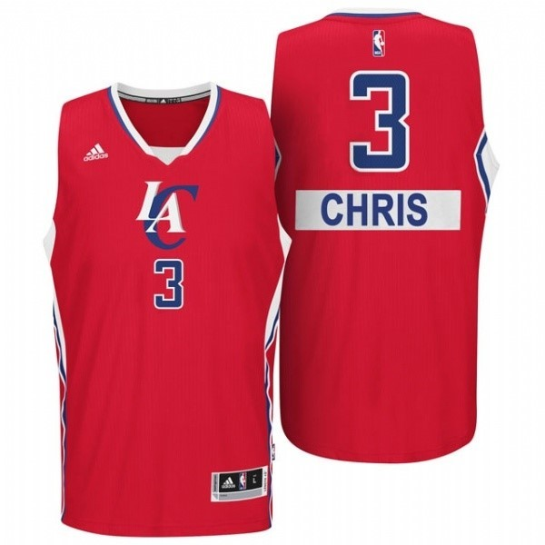 Vente Nouveau Maillot NBA Los Angeles Clippers 2014 Noël NO.3 Chris Rouge pas cher