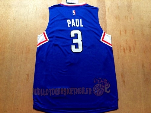 Vente Nouveau Maillot NBA Los Angeles Clippers NO.3 Chris Paul Bleu pas cher
