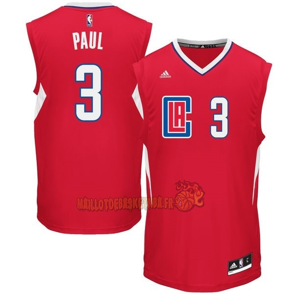 Vente Nouveau Maillot NBA Los Angeles Clippers NO.3 Chris Paul Rouge pas cher