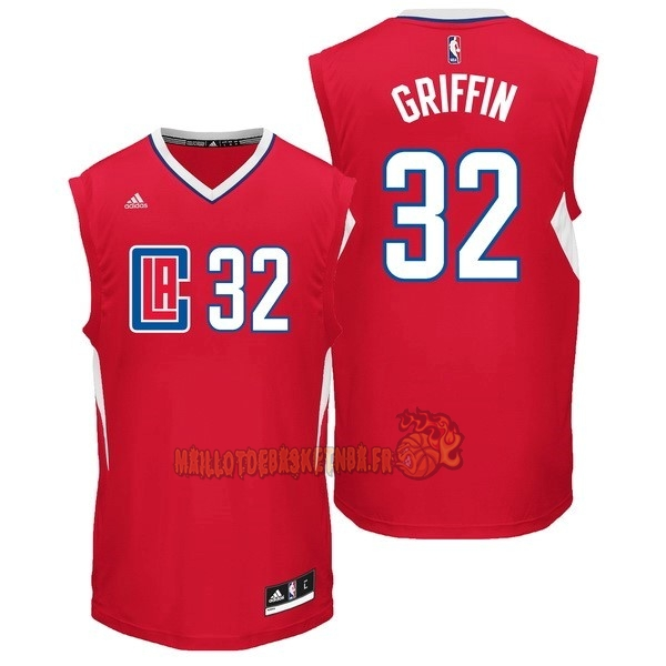 Vente Nouveau Maillot NBA Los Angeles Clippers NO.32 Blake Griffin Rouge pas cher