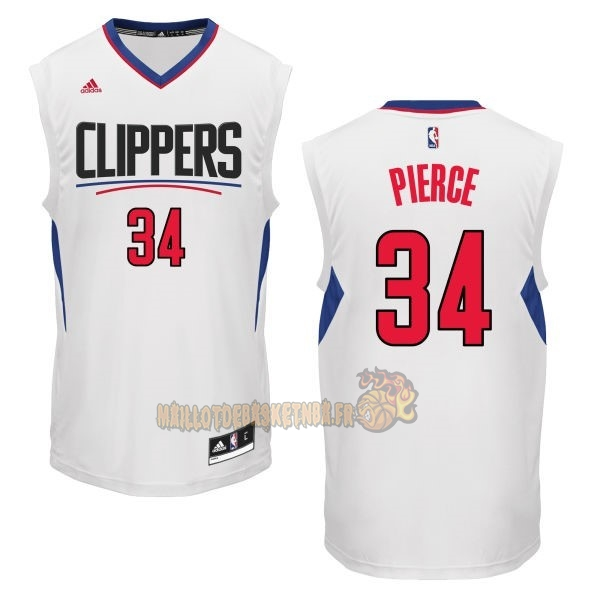 Vente Nouveau Maillot NBA Los Angeles Clippers NO.34 Paul Pierce Blanc pas cher