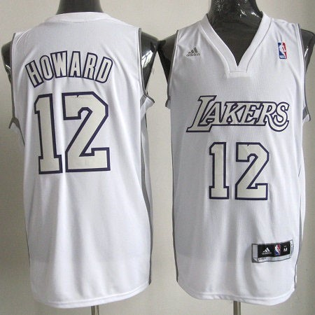 Vente Nouveau Maillot NBA Los Angeles Lakers 2012 Noël NO.12 Howard Blanc pas cher