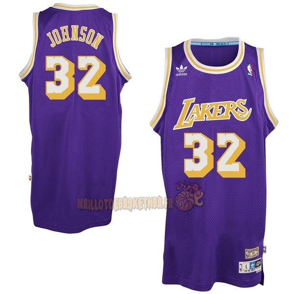 Vente Nouveau Maillot NBA Los Angeles Lakers NO.32 Wesley Johnson Pourpre pas cher