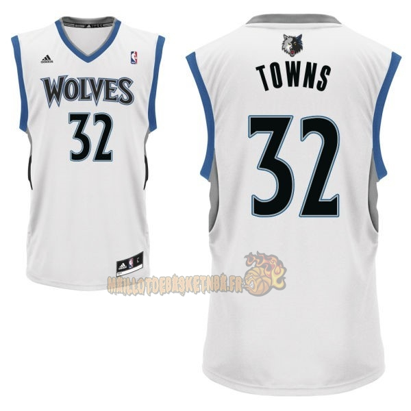 Vente Nouveau Maillot NBA Minnesota Timberwolves NO.32 Karl Anthony Towns Blanc pas cher