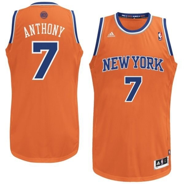 Vente Nouveau Maillot NBA New York Knicks 2012 Noël NO.7 Anthony Orange pas cher