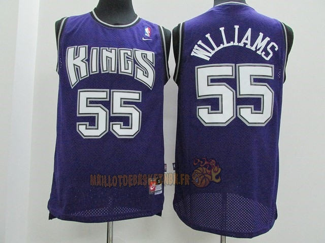 Vente Nouveau Maillot NBA Sacramento Kings NO.55 Jason Williams Pourpre pas cher