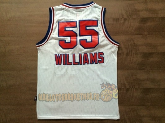 Vente Nouveau Maillot NBA Sacramento Kings NO.55 Jason Williams Retro Blanc pas cher
