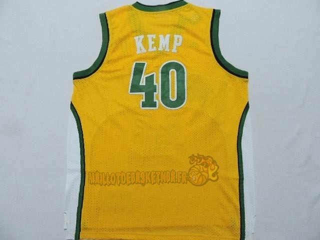 Vente Nouveau Maillot NBA Seattle Supersonics NO.40 Shawn Kemp Jaune pas cher