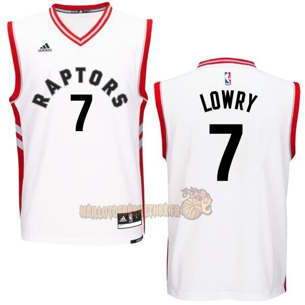 9cadd80df82aa Vente Nouveau Maillot NBA Toronto Raptors NO.7 Kyle Lowry Blanc pas cher