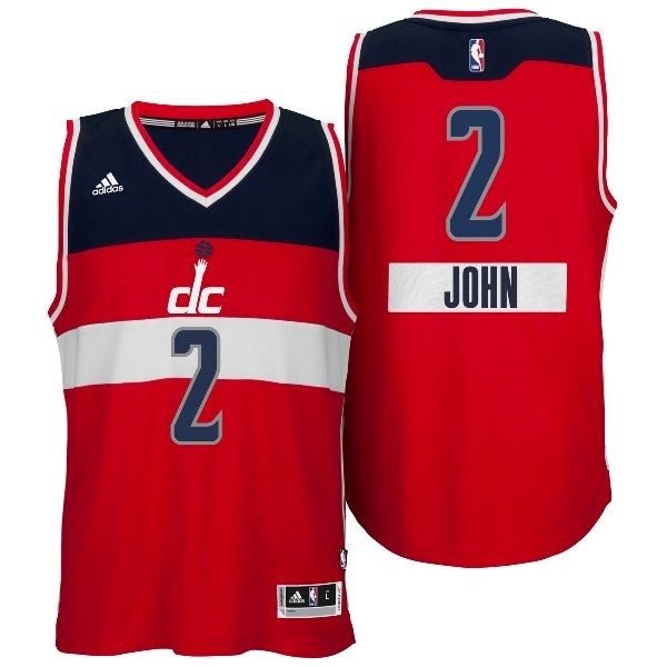 Vente Nouveau Maillot NBA Washington Wizards 2014 Noël NO.2 John Rouge pas cher