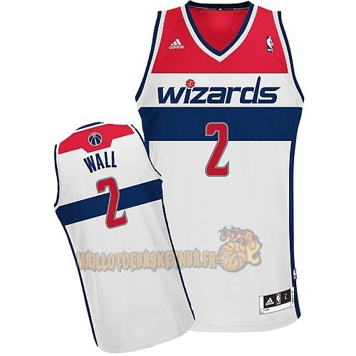Vente Nouveau Maillot NBA Washington Wizards NO.2 John Wall Blanc pas cher