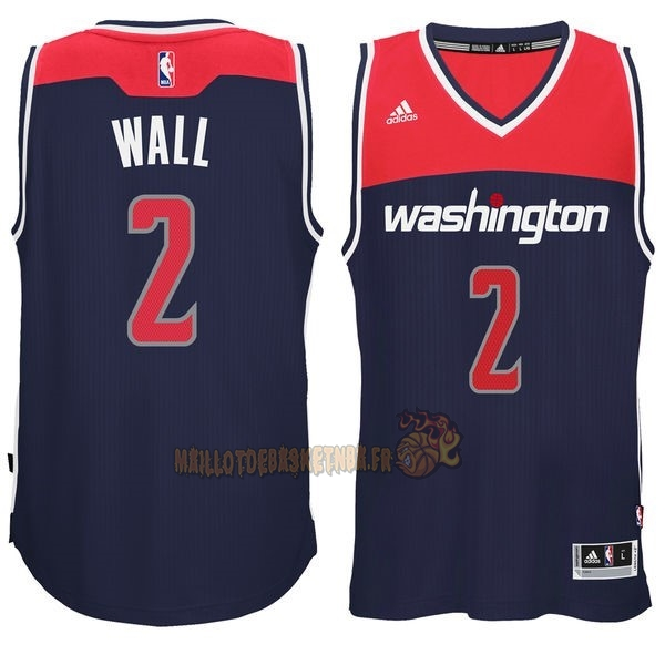 Vente Nouveau Maillot NBA Washington Wizards NO.2 John Wall Noir pas cher
