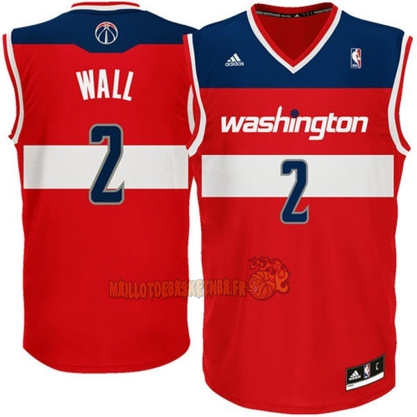 Vente Nouveau Maillot NBA Washington Wizards NO.2 John Wall Rouge pas cher