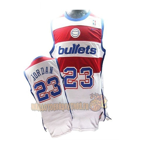 Vente Nouveau Maillot NBA Washington Wizards NO.23 Michael Jordan Retro Blanc pas cher