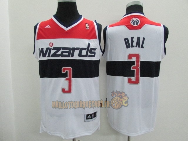 Vente Nouveau Maillot NBA Washington Wizards NO.3 Bradley Beall Blanc pas cher